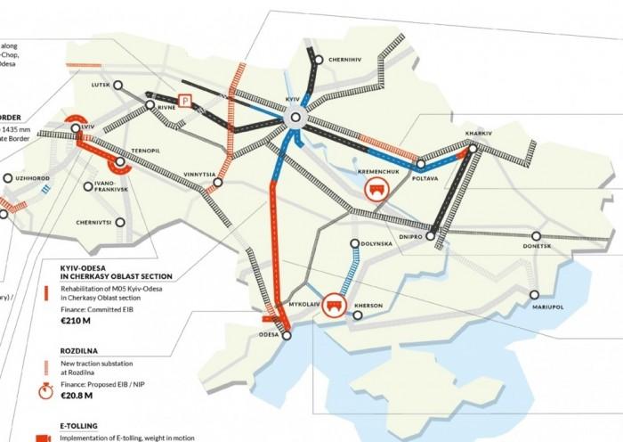 Кабмин разработал карту инфраструктурных инвестпроектов Украины