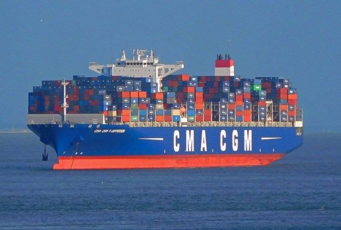 В порту Одесса уже обработали два контейнеровоза нового сервиса CMA CGM