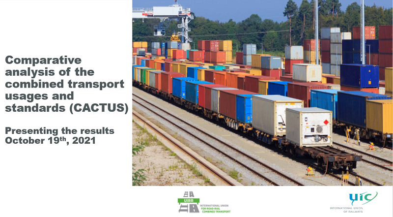 UIC and UIRR, the International Union for Road-Rail Combined Transport, presented their comparative analysis of combined transport usage and standards on 19 October