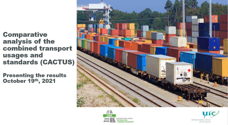 19 октября UIC и UIRR, Международный союз автомобильных и железнодорожных комбинированных перевозок, представили свой сравнительный анализ использования и стандартов комбинированных перевозок.